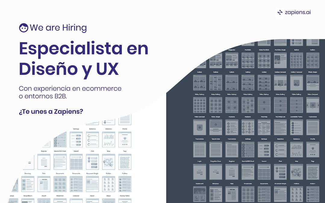 Buscamos especialista en Diseño y UX.